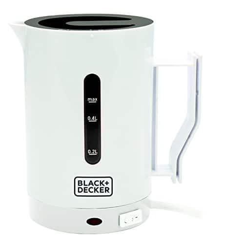 BLACKDECKER DC1005 QS Bollitore da Viaggio 0 - BLACK+DECKER Bollitore B+D MOD. Dc1005, 1000 W, 7 Cups, 1 Decibel, Plastica, Bianco