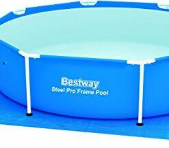 Bestway Pool Ground Cloth 274cm x 274cm – pool accessories (Ground cloth, Blue, Full color box)