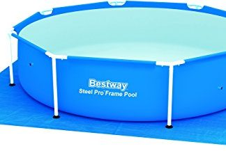 Bestway Pool Ground Cloth 274cm x 274cm – pool accessories (Ground cloth, Blue, Full color box)