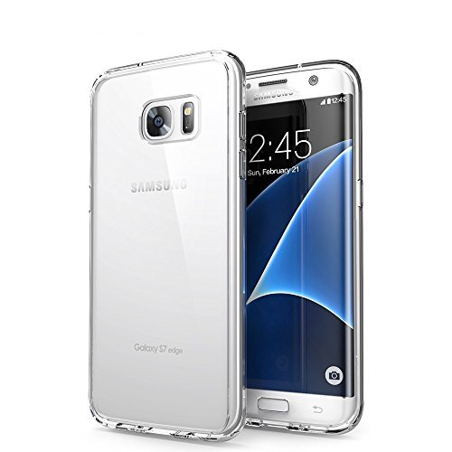 ORLEGOL Custodia Galaxy S7 Edge, Crystal Case Samsung S7 Edge Cover Silicone Morbida TPU Bumper Case Anti-graffio Protettiva Custodia per Samsung Galaxy S7 Edge Case Cover – Trasparente