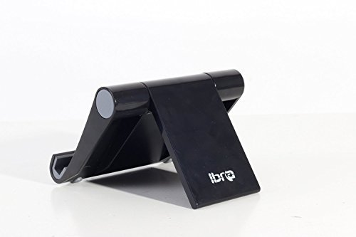 IBRA® Multi-Angle Portable Stand for iPad/Tablets/iPhone/Mobile Phones 7″ to 10″ – Black