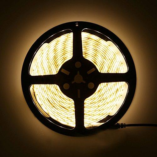 LEDMO Striscia LED SMD5630 300led 5 metri bianco caldo 2700K DC12V IP65 impermeabile 25LMLED 2 volte la luminosit di SMD5050 LED striscia luminosa a LED Light Strip alimentatore non incluso 0 1 - LEDMO striscia LED bianco caldo 3000K strisce led SMD5630-300led LEDMO led strip 5 metri DC12V IP65 impermeabile 2 volte la luminosità di SMD5050 LED striscia (alimentatore non incluso)