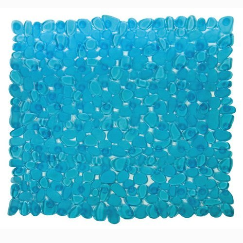 MAURER Tappeto bagno azzurro con ventose antiscivolo e antimuffa Pvc cm 54x54 0 - MAURER Tappeto bagno azzurro con ventose antiscivolo e antimuffa Pvc cm 54x54