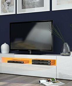 Porta tv moderno Mojito, mobile soggiorno Bianco, portatv design.Dimensioni in cm (L-A-P): 200 – 36,2 – 40
