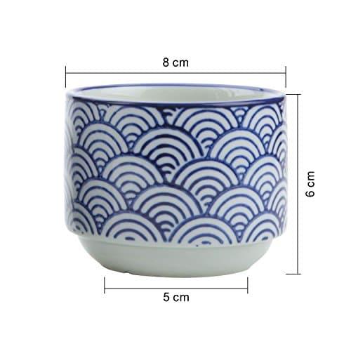 T4U Stile Giapponese Seriale NO3 Ceramica Vaso di Fiori Pianta Succulente Cactus Vaso di Fiori Contenitore Impianto Vasi Vivaio Bianca 0 1 - T4U 7.5CM Stile Giapponese Seriale No.3Ceramica Vaso di Fiori Pianta Succulente Cactus Vaso di Fiori Giardino i vasi di Fiori vasi di Piante.