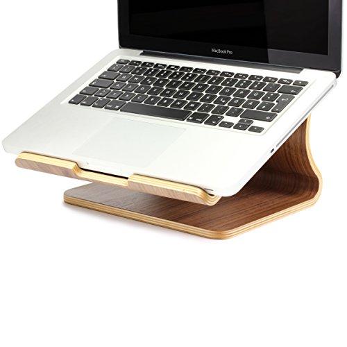URCOVER Base di Appoggio per Laptop Notebook MacBook da Intern Design Legno Bamb Nobilitato in Marrone scuro Podio Sostegno Base Appoggio Supporto 0 3 - URCOVER® Base di Appoggio per Laptop / Notebook / MacBook da Intern Design | Legno Bambú Nobilitato in Marrone scuro | Podio Sostegno Base Appoggio Supporto