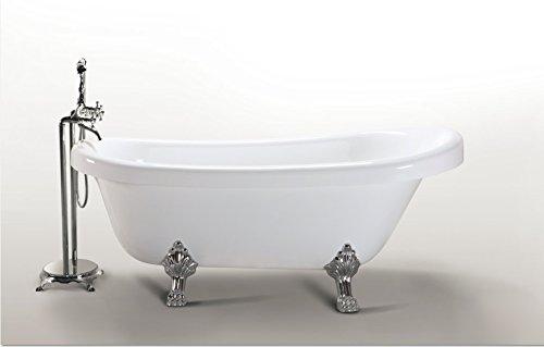 Vasca Da Bagno Con Piedini : Vasca da bagno margherita freestanding bianca con piedini colore