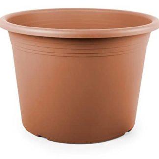 Geda Garden&Home Vaso da fiori, Cilindro, diametro 60 cm, in plastica, colore: terracotta